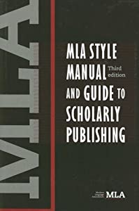 "Cover of ""MLA Style Manual and Guide to S..."