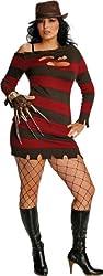 Women's Costume: Sexy Miss Krueger- Plus Size