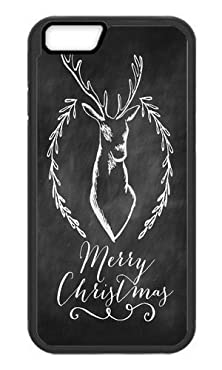 buy Phone Case Custom Iphone 6 Plus 5.5Inch Tpu Phone Case Merry Christmas Deer And Antler Black Soft Cover Case For Apple Iphone 6 Plus 5.5Inch