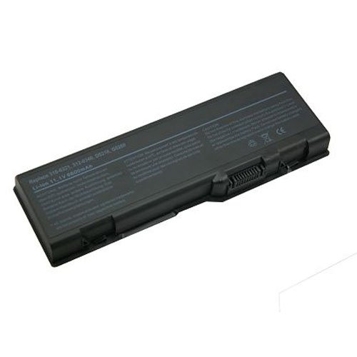 Dell Inspiron 6000 Laptop Battery (Lithium-Ion, 9 Chamber, 6600 mAh, 73wh, 11.1 Volt) - Replacement for Dell 9200 Series Laptop Battery