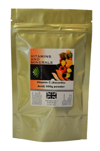 Hellenia Vitamin C - Ascorbic Acid 500g Powder - Immune System Health