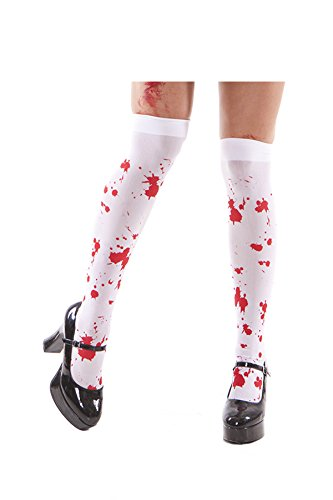 Sexy Zombie Thigh High Adult Roleplay Costume Accessory, One Size, White/Red