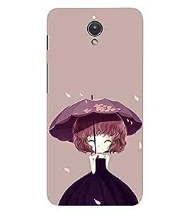 EPICCASE Purple Dress girl Mobile Back Case Cover For Asus ZenFone C (Designer Case)