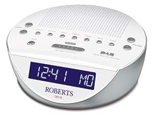 Roberts CRD51W Glowtime DAB/FM RDS Digital Clock Radio-White