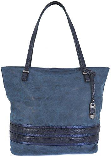 david-jones-lightweight-top-zip-shopper-shoulder-tote-handbag-various-colours-4011-2-blue-grey