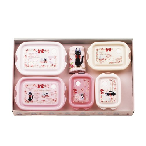 Majo Kiki microwave containers & towel, set of 6