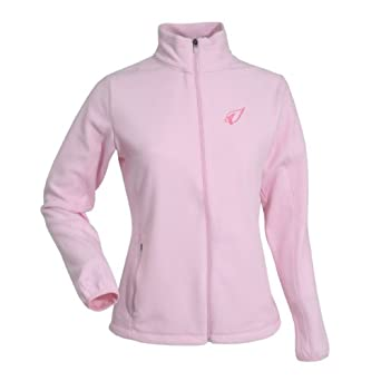 NFL Ladies Arizona Cardinals Sleet Micro Fleece Sweatshirt (Mid Pink, Medium) by Antigua