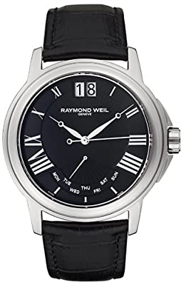 Raymond Weil 9576-STC-00200 Men's Tradition Black Leather Watch from Raymond Weil