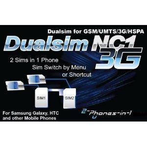 NC1 Carte Dualsim 3G No Cut pour Samsung Galaxy SII