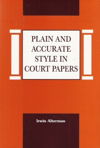 Plain and Accurate Style in Court Papers PDF