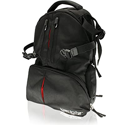 iGadgitz Black Water Resistant SLR DSLR Camera & Laptop Travel Backpack for Pentax K Series Digital K-01, K100D, K100D Super, K10D, K10DGrand Prix, K110D K200D K20D K-3 K-30 K-5 K-5 II K-50 K-500