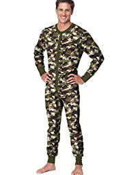 "Hanes Men\'s X-Tempâ""¢ Camo Thermal Union Suit 3X-4X"