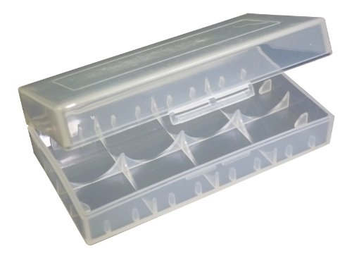 NEW ultrafire airsoft CR123a 18650 Battery Case - CLEAR