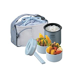 Zojirushi Mini Stainless Thermal Lunch Box, Metallic Blue