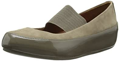 Fitflop Women's Due M-J Nubuck Mary Jane Flats, Bungee Cord, 4.5 UK