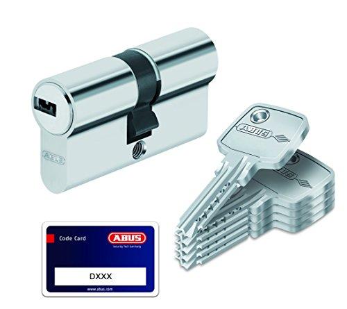 Abus - Cilindro per porta, con serratura con chiave, Argento, 33839