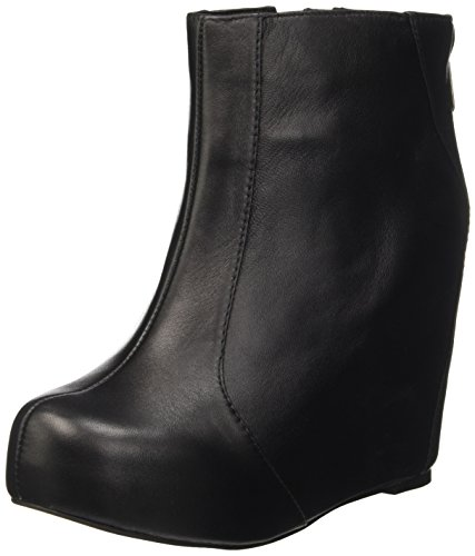 Jeffrey Campbell Pixie, Stivali corti con piattaforma Donna, Nero (Leather Black), 38 EU