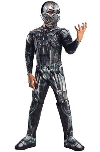 [Mememall Fashion Avengers 2 Deluxe Ultron Child Costume] (Kids Deluxe Ultron Costumes)