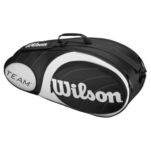 Wilson Team 6-Pack Bag, Black/Silver