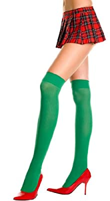 ToBeInStyle Women's Ribbed Schoolgirl Thigh Hi Stockings