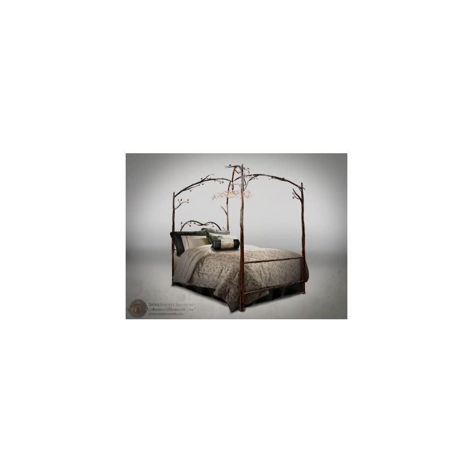 - 914 349 Enchanted Forest Canopy Bed King On PopScreen