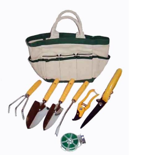 Master Craft Eight-Piece Garden Tool and Tote Set