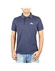 Zikzuk Men's Cotton Half Sleeve Navy Blue Casual T-shirt