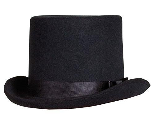 Boland 04213 - Cappello Tuba Cilindro Feltro Lusso Byron, Nero