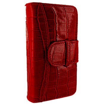 Best Price Apple iPhone 5 / 5S Piel Frama Red Crocodile Leather Wallet