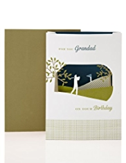 Granddad 3D Golf Birthday Card