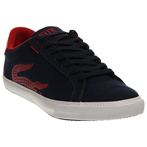 Lacoste Men's Grad Vulc TSPP Fashion Sneaker, Dark Blue/Red, 10.5 M US