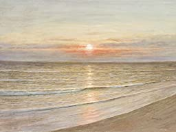 Le Beau Giclee by AFD Home 11158233 Beach Sunset Gallery Wrap, 36-Inch by 48-Inch
