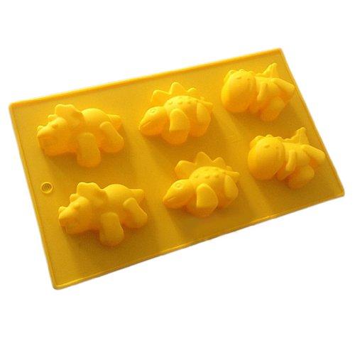 Wholeport Dinosaur Cake Molds for Kids 1-Hole Silicone Baking Cake Mold Bakeware