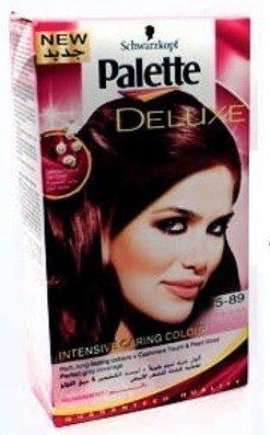 schwarzkopf palette de luxe coloration cheveux teinture 5 89 rubis noir - Coloration Violine Soie