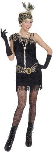 72983 - Erwachsenenkostüm Charleston, Kleid und Kopfbedeckung