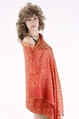 Premium Silk Reversible Bubbles Stole / Shawl / Wrap 28