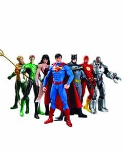 DC Collectibles NOV138235 Justice League Action Figure Box Set, 7 Pack