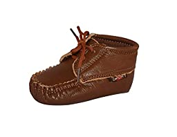 Unique Baby Boys Leather Loafers (6-12 Months, Brown)