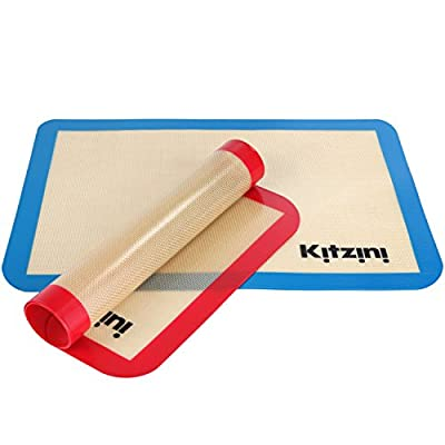 Silicone Baking Mat Set (2) Half Sheets - Non Stick Cookie Sheets Professional Grade