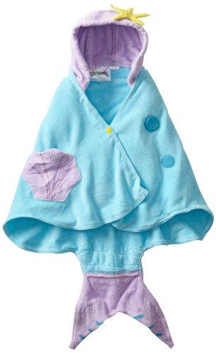 Kidorable Little Girls'  Mermaid Towel, Blue, Medium