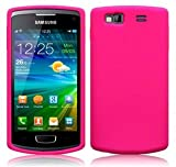 HOT PINK SILICONE CASE FOR SAMSUNG WAVE 3 S8600 + FREE SCREEN PROTECTOR