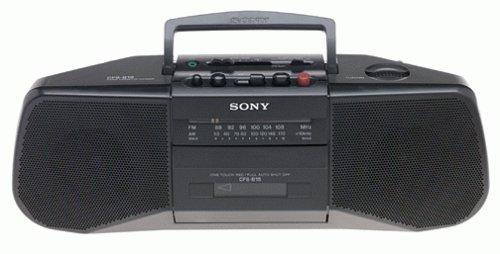 Sony CFS-B15 AM/FM Stereo Cassette Recorder (Black)