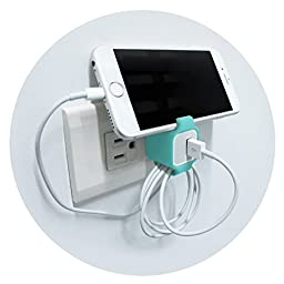 iPhone Charger Keeper + iPhone cable organizer - Turquoise (3pcs)