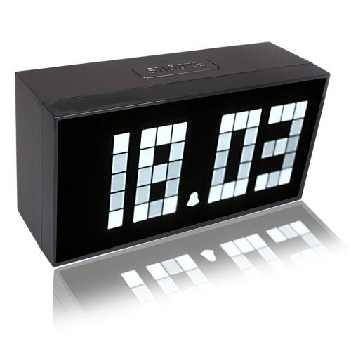 Digital Large Big Jumbo LED Snooze Wall Desk Alarm Day of Week Calendar Clock, 4 Colors to Choose!! (White)