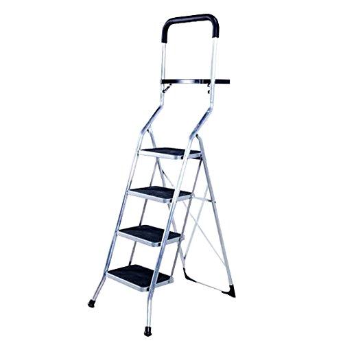 iimono117 アルミ ステップラダー 4段 ブラック / トレー付き 折りたたみ 高所作業 軽量 脚立 ステップ台 踏み台 はしご 持ち運び 洗車 DIY 庭仕事 掃除 積み下ろし