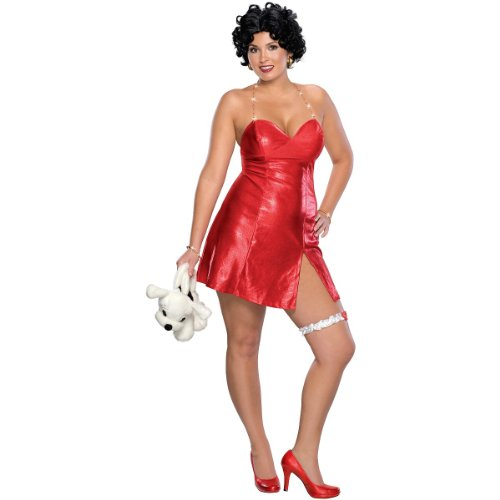 [Betty Boop Costume - Plus Size - Dress Size 16-22] (Betty Boop Wig)