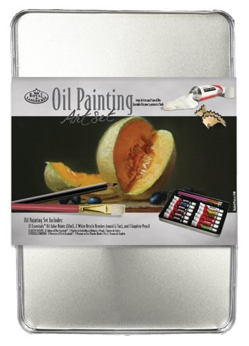Oil Painting Art Set W/Tin-