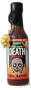 Hot Sauce, Blair's Mega Death Hot Sauce, 5oz Glass Jar, w/Skull Key Chain by Blair's