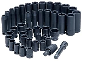 "Advanced Tool Design Model ATD-4601 42 Piece 3/8"" Drive Standard and Deep SAE and Metric Impact Socket Set by ATD"