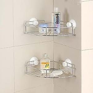 Mensole in vetro cestini doccia gadget da bagno contemporaneo montaggio a muro - Cestini da bagno ...